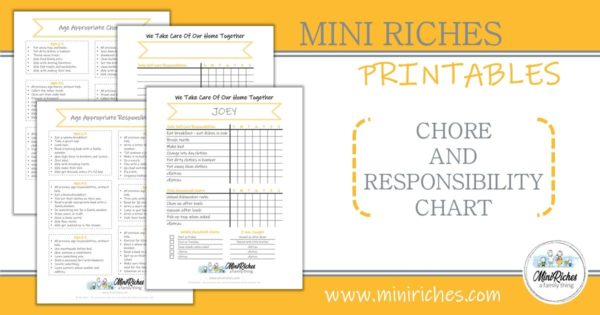 Chore chart and age-appropriate tasks product showcase.