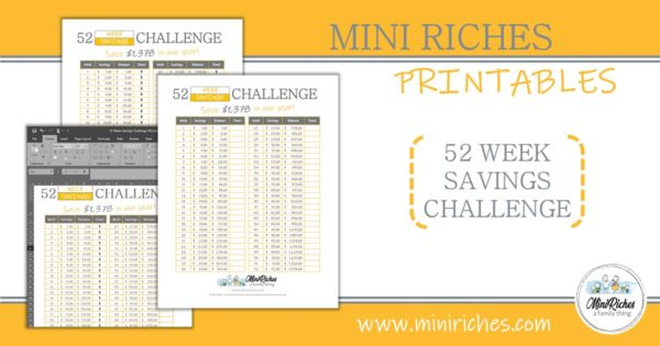 52 week savings challenge product showcase