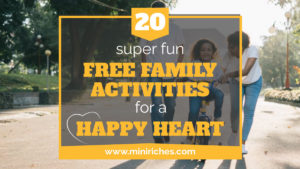 20 Super Fun Free Family Activities for a Happy Heart link share image for Twitter.