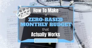 Facebook link share image for How to Make a Zero-Based Monthly Budget That Actually Works post.