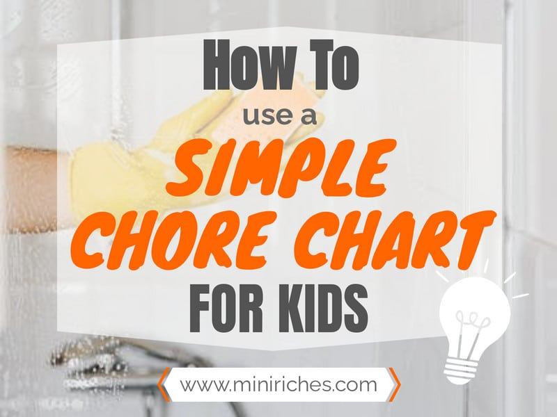 How to Use a Simple Chore Chart for Kids feature post image.