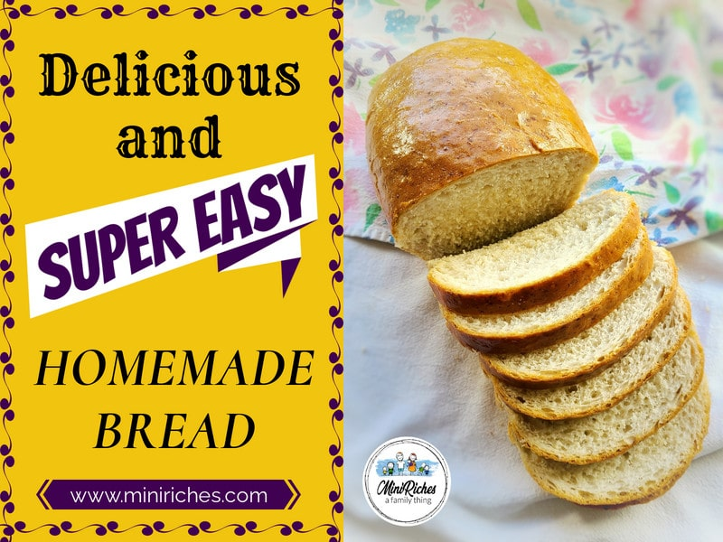 How to Make Easy and Inexpensive Homemade Bread in 9 Steps post feature image.