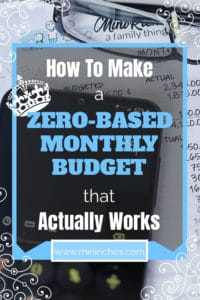 Pinterest pin image for How to Make a Zero-Based Monthly Budget That Actually Works post.