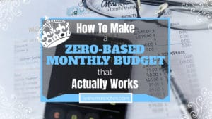 Twitter link share image for How to Make a Zero-Based Monthly Budget That Actually Works post.