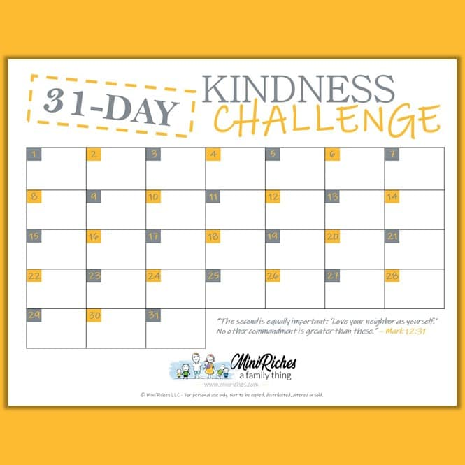 31 Day Kindness Challenge image for opt-in form.