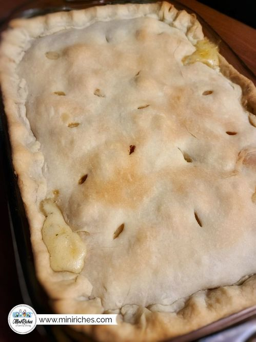 Mouthwatering pot roast pie cooling after baking.