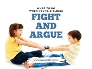 Feature image for What to Do When Young Siblings Fight and Argue post.